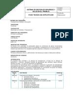 FICHA DE CAPACITACION