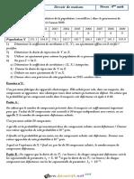 Devoir de Maison - Math - Bac Mathématiques (2017-2018) Mr Salem Zitoun