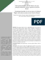Perfil epidemiológico dos servidores de uma instituição federal de ensino superior do Sul do Brasil