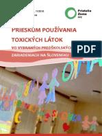 Prieskum používania  toxických látok