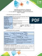 Guía de actividades y rúbrica de evaluación  Paso 3 - Diseño