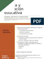 clases Política y legislación educativa 1