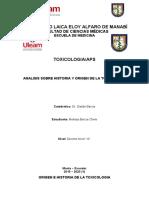 ORIGEN E HISTORIA DE LA TOXICOLOGIA