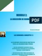 modulo 2-Dirección de reuniones