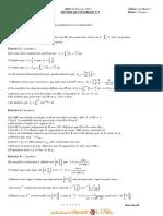 Devoir de Contrôle N°2 - Math - Bac Math (2010-2011) Mr Boubaker Tabbabi