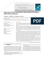 Eight-year outcome of posterior inlay-retained all-ceramic fixed dental prostheses