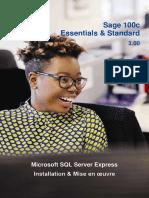 Déploiement Sage 100c MS Express pour Essentials et Standard