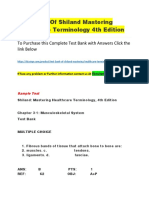 Test Bank of Shiland Mastering Healthcare Terminology 4th Edition