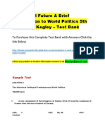 The Global Future a Brief Introduction to World Politics 5th Edition by Kegley – Test Bank