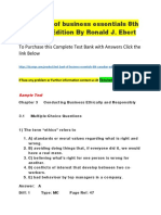 Test Bank of Business Essentials 8th Canadian Edition by Ronald J. Ebert