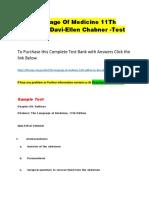 The Language of Medicine 11Th Edition by Davi-Ellen Chabner -Test Bank