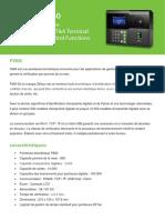 Pointeuse Palm ZKTeco P260 Algerie Terminal Multi Biométrique Identification Empreinte Digitale