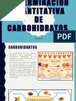 Guía 8 Determinación cuantitativa de carbohidratos