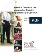 "Discussion Guide for the Campaign for Disability Employment's ""I Can"" PSA"