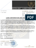 LOAN CONFIRMATION AND AGREEMENT