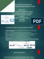 ELEMENTOS DE LOS COSTOS POR ORDENES DE PRODUCCION FORO