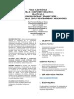 Solución laboratorio 2 y 3 Física Electrónica