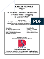 A Study on Customer Satisfaction Towards Online Shopping in Lucknow City