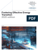 WEF Fostering Effective Energy Transition 2020 Edition