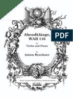 Anton Bruckner Abendklange, WAB110