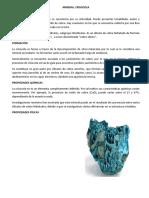 geoquimica del mineral
