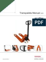 Transpaleta manual especificaciones