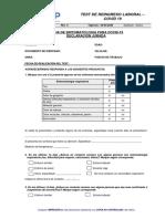 FO-SSOMA-052 - Ficha de Sintomatología Para COVID 19