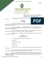 Lei 8.000 - Promoção de Oficiais Da Ativa Da PMGO