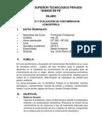 silabo de evaluacion y monitoreo de contaminación atmosferica