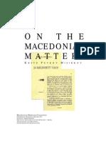 MISIRKOV, Krste Petkov - On the Mace Don Ian Matters