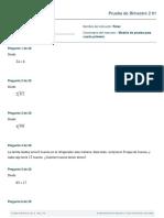 Modelo de prueba cuarto primaria