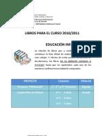 Comunicado Libros de Texto 2010-2011