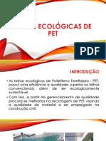 Telhas ecológicas de pet