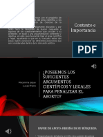 Presentación de Analisis ¿Poseemos los suficientes argumentos científicos y legales para penalizar el aborto? Jaque y Prieto