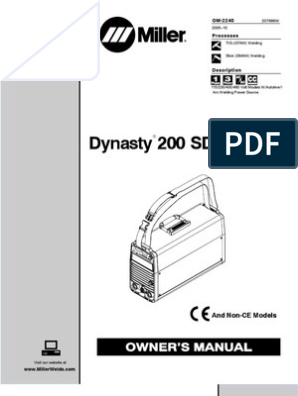 Miller Dynasty 200 Dx Welding Insulator Electricity