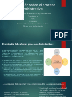 Presentación sobre el proceso administrativo