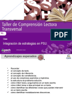 Clase 13 Integración de estrategias en PSU Lenguaje
