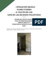Operacion Plomo Fundido a Traves de Los Ojos Mujeres Palest in As