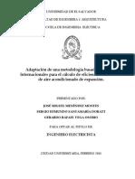 Adaptación de una metodología basada en normas internacionales para el cálculo de eficiencia en unidades de aire acondicionado de expansión