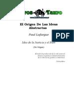 Lafargue, Paul - El Origen De Las Ideas Abstractas.doc