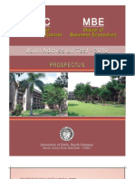 MBE MFC Admission Brochure