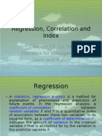 Lecture 8 and 9 Regression Correlation and Index