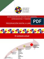 PRESERVACIÓN DIGITAL A LARGO PLAZO