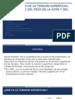 DETERMINACIÓN DE LA TENSIÓN SUPERFICIAL POR EL MÉTODO(1)