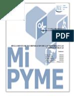 Reglamento de incorporacion de las Mipymes en las compras publicas