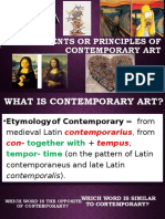 Elements OR principles of contemporary art