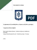 Documento Final deporte, Pautas Planeacion Proyecto