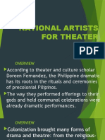 NATIONAL ARTISTS FOR THEATER