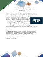 Presentación del curso Gerencia de Proyectos I