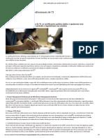 Sete certificações para profissionais de TI